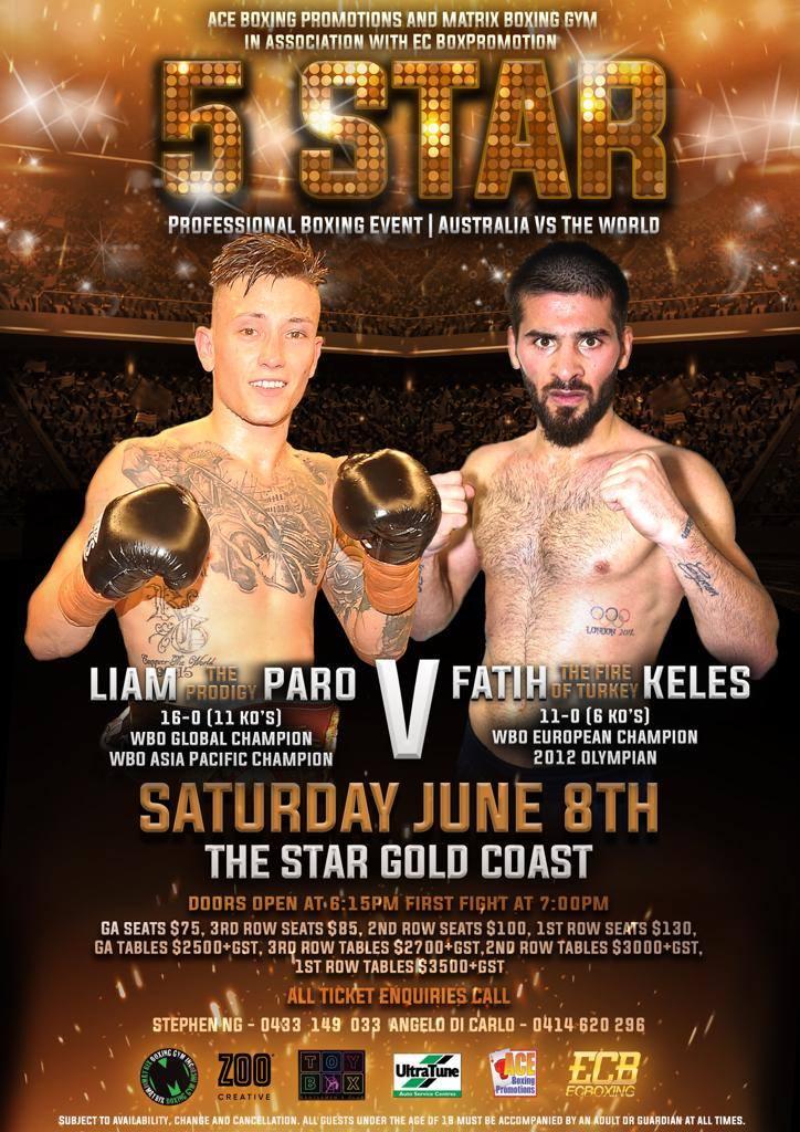 Am 8. Juni in Australien: Fatih Keles trifft auf ungeschlagenen Liam Paro