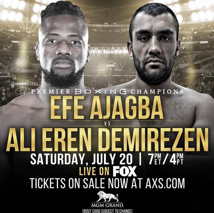 """Viva Las Vegas"": Ali Eren Demirezen bekommt es am 20. Juli mit Efe Ajagba zu tun"